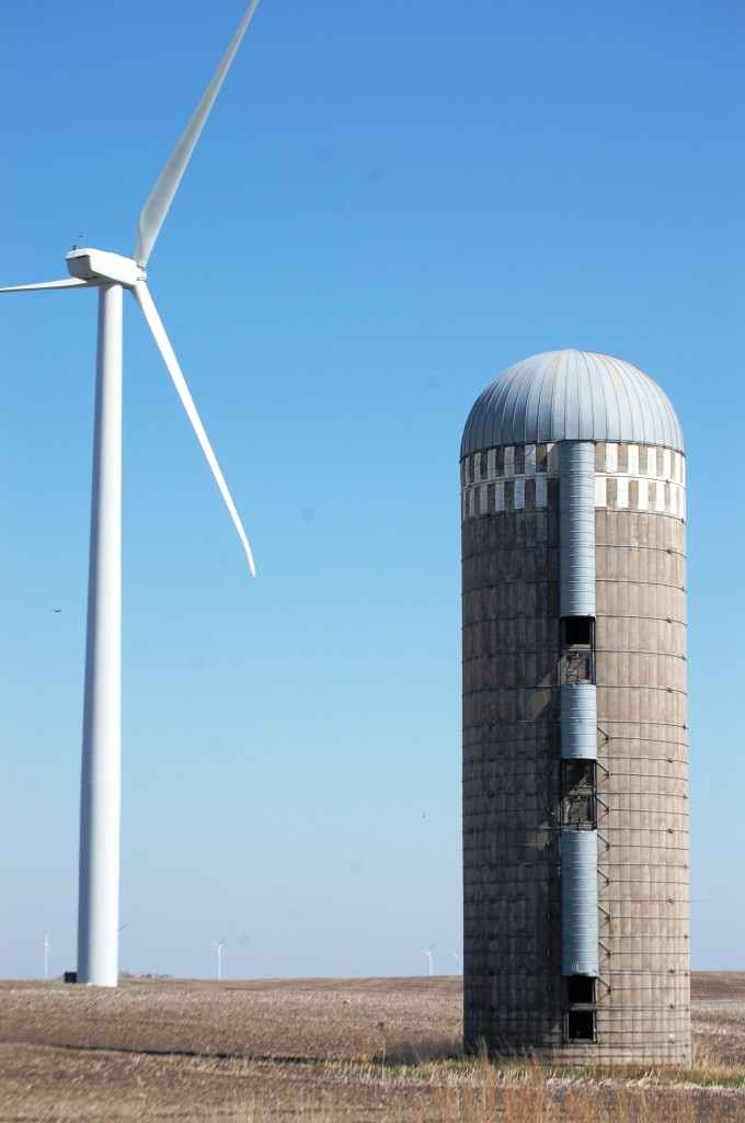 Silo and Wind Turbine near Nekoma, ND