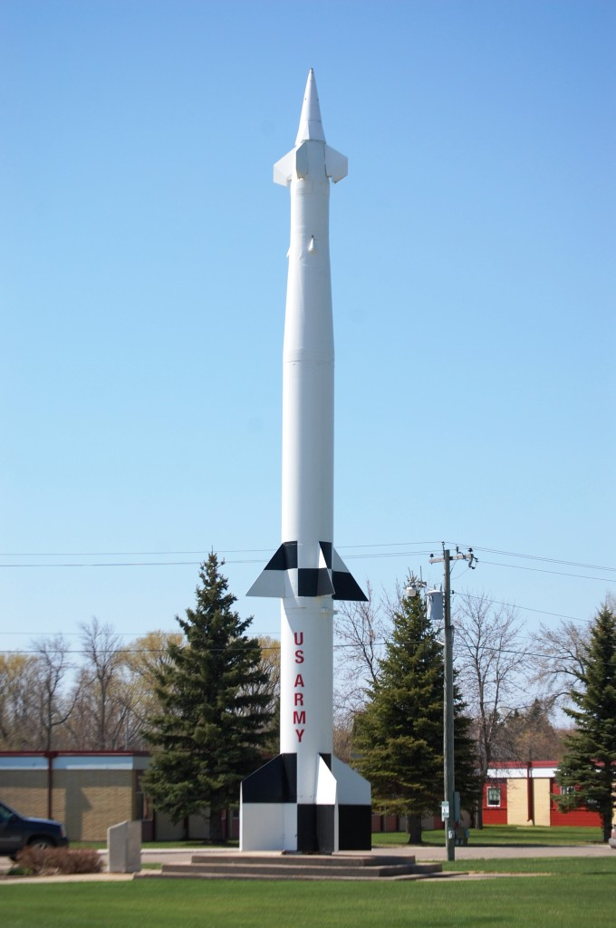 Spartan Missile in the city park in Langdon, ND