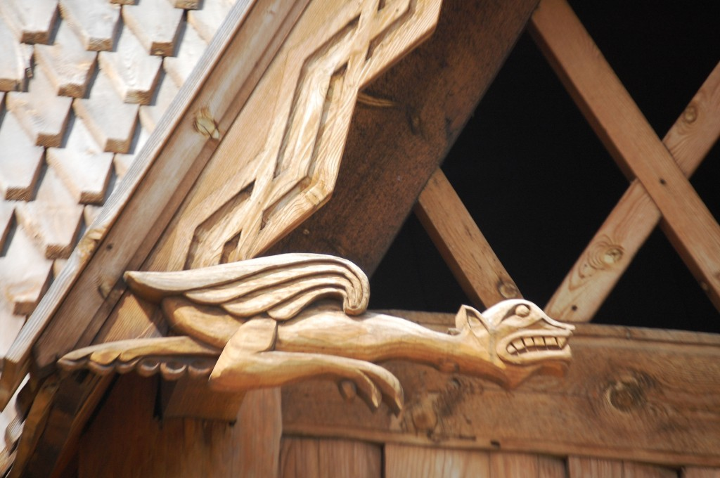 Wooden Gargoyles of the Stave Church in Minot
