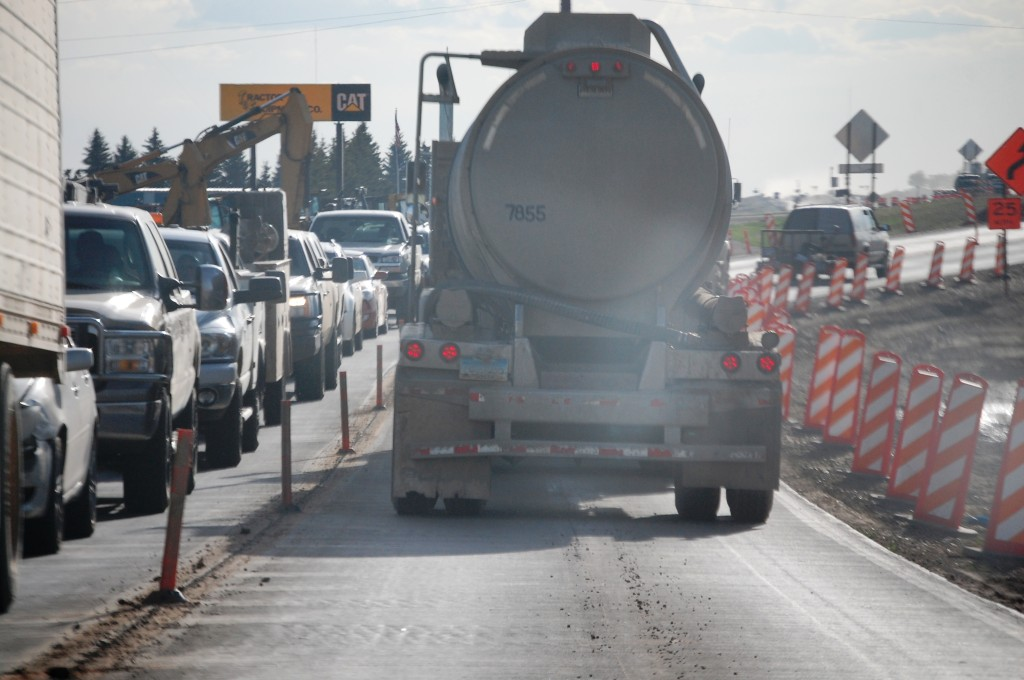 Traffic and road construction menace this once quiet town