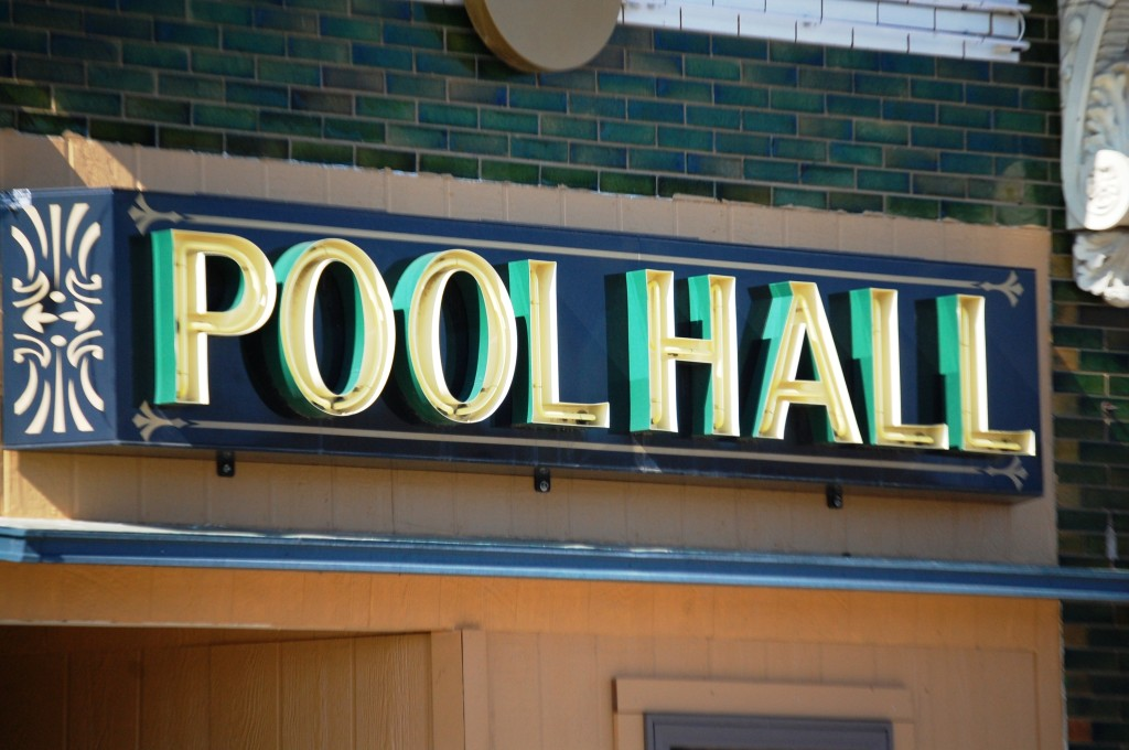 Old Pool Hall Sign in Glasgow, Montana