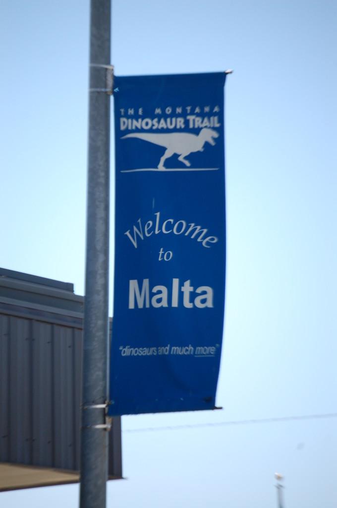 Dinosaur Trail Banner in Malta, Montana