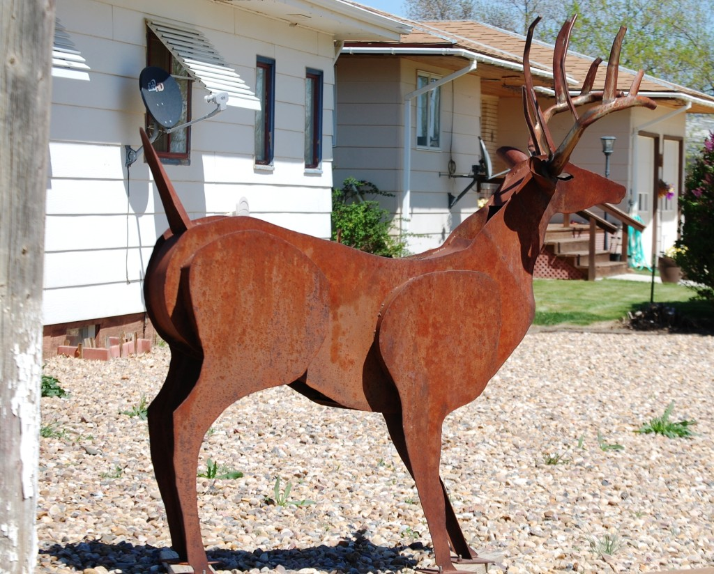 Scrap Metal Deer in Rudyard, Montana