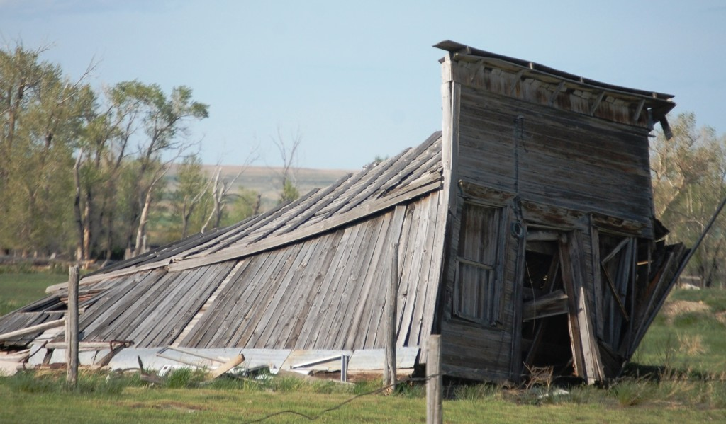 A dilapidated barn near Pendroy, Montana