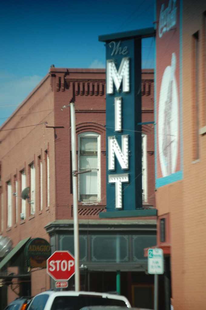 The Mint Neon sign in Livingston, MT