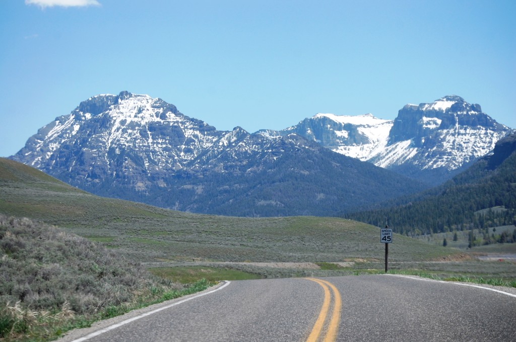 Another splendid mountain scene from Grand Loop Road in Yellowstone
