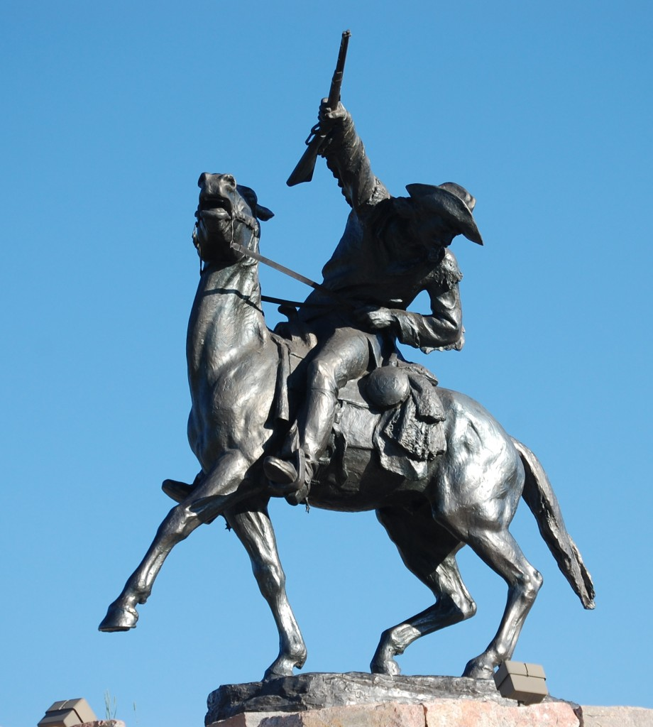 Buffalo Bill Cody statue in Cody, Wyoming