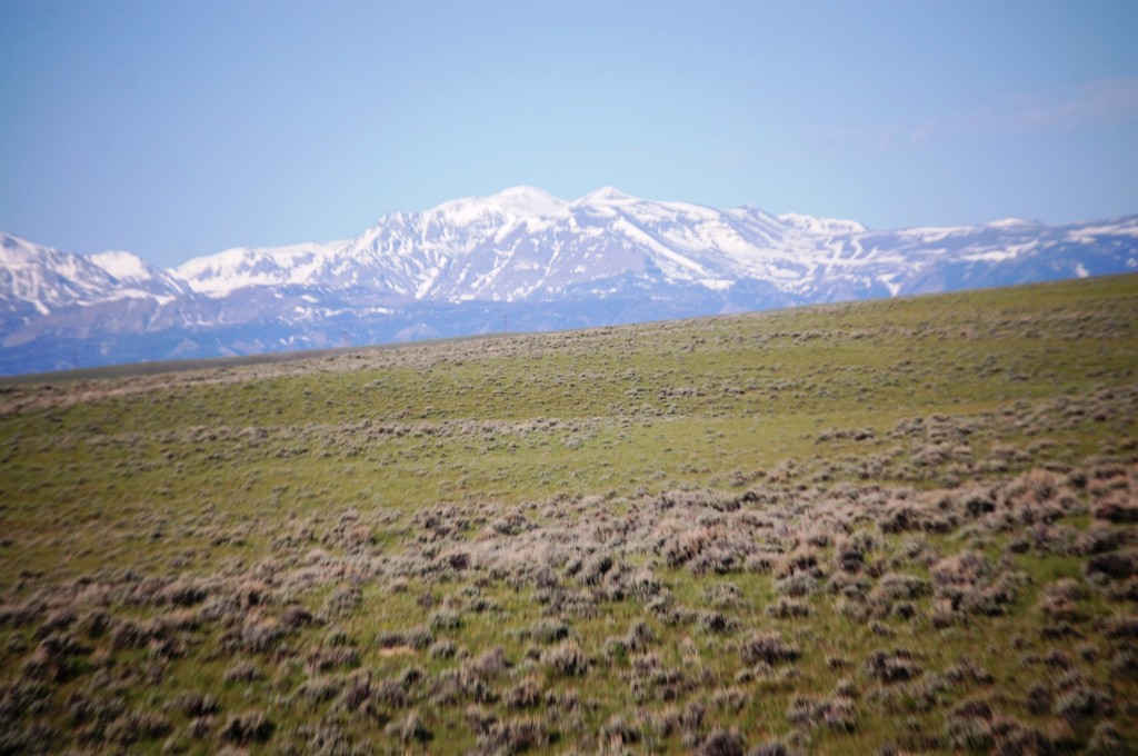 Mountains and Sagebrush as seen from Wyoming 120 - I believe this is Wapiti Ridge
