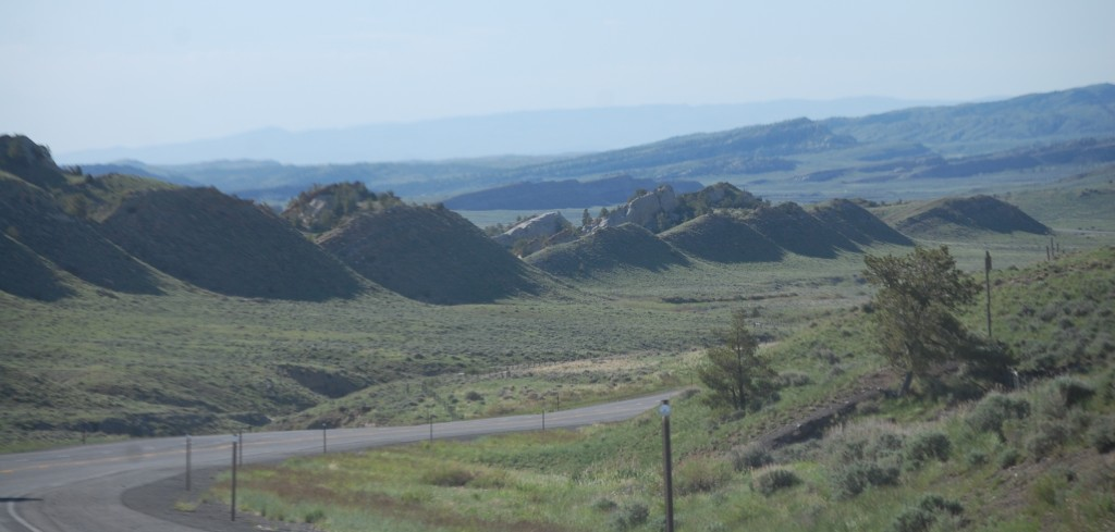 Hill country in central Wyoming south of Meeteetse