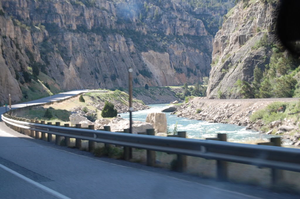 Entering Wind River Canyon on US 20 from Thermopolis