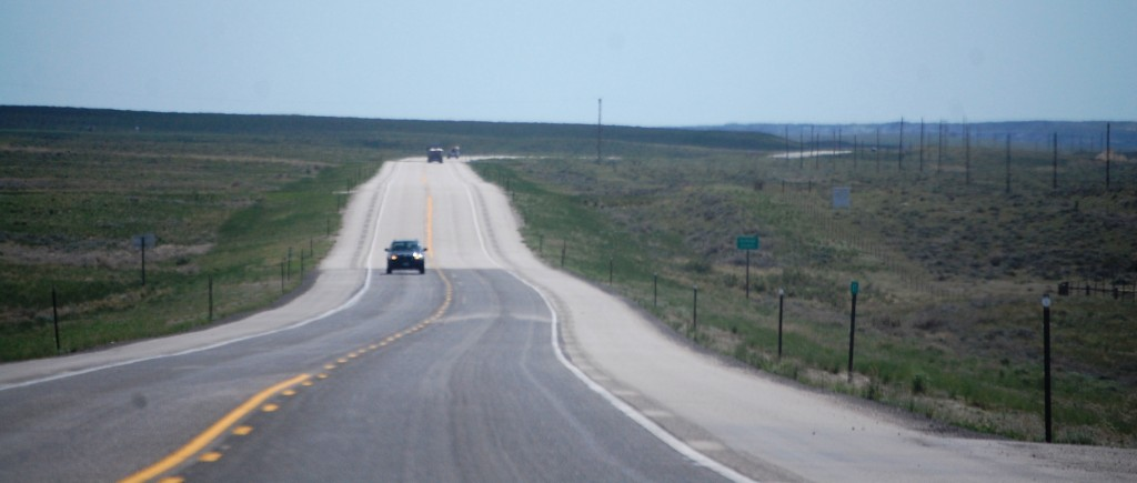 Another highway scene along US Route 20 in Wyoming