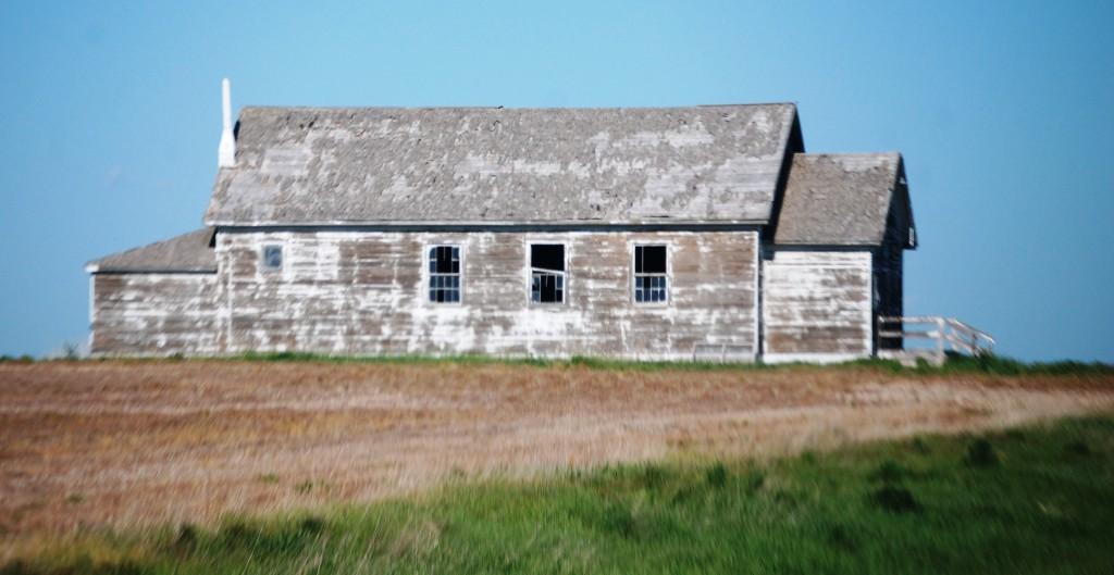 Old church near Hemingford, Nebraska
