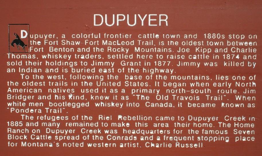 Dupuyer History