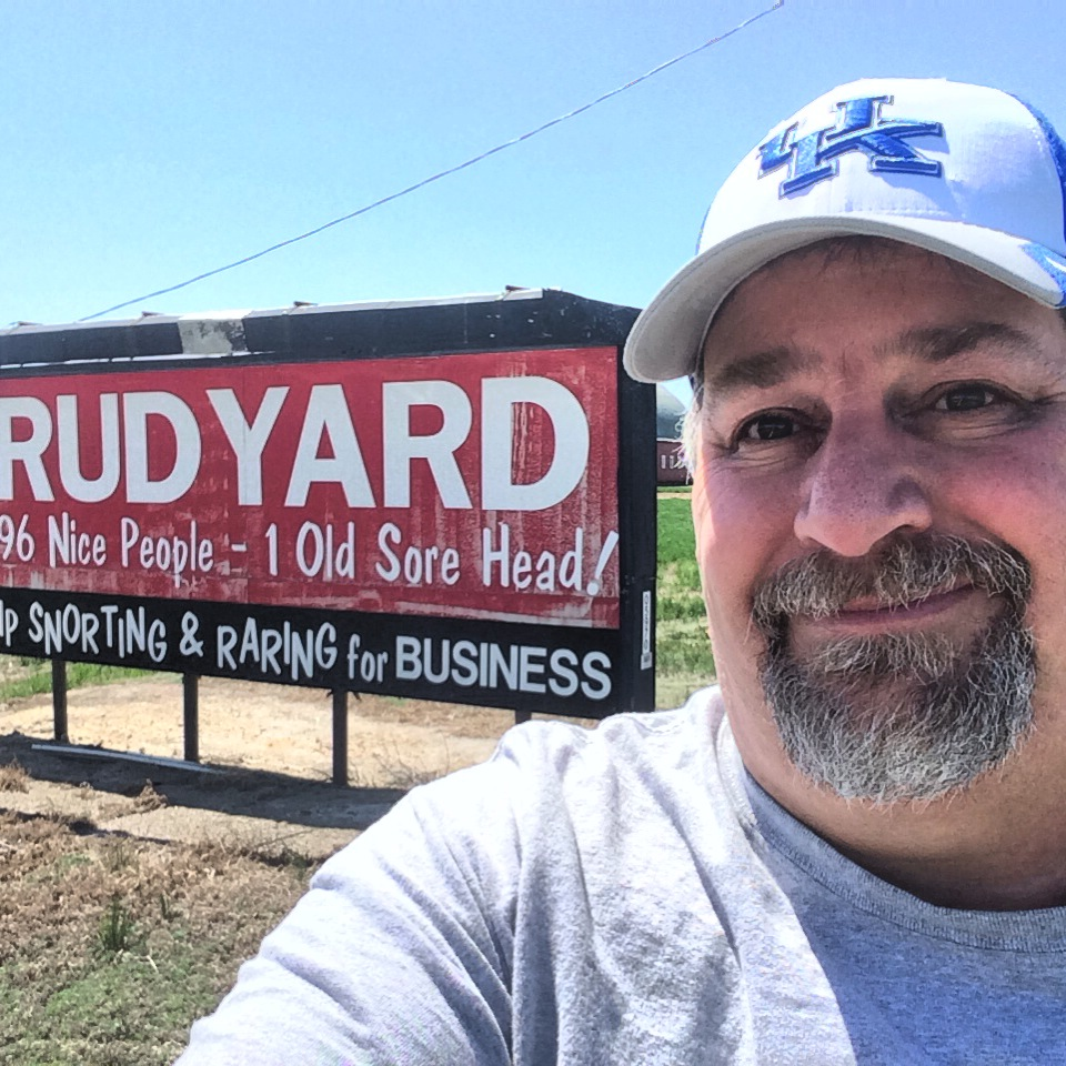 """Welcome to Rudyard ... one of the classic signs, """"Lots of nice people and one sorehead"""""""