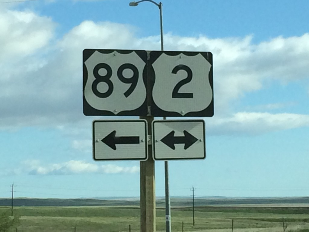 The end of this leg at US Highway 89