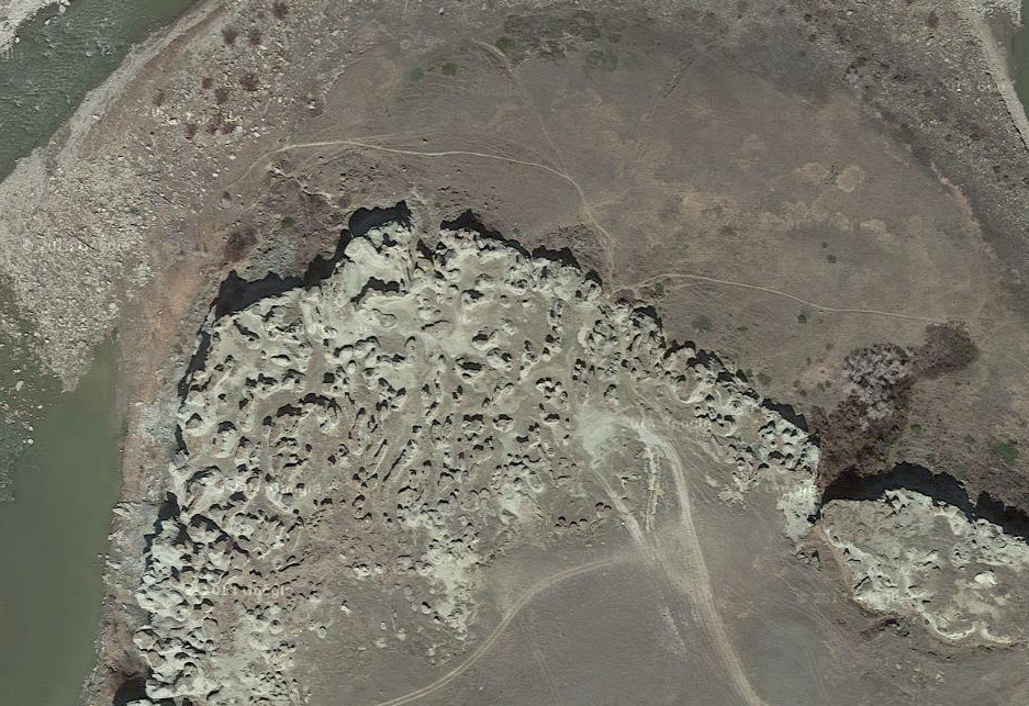 Satellite view of Rock City (from Google Maps)