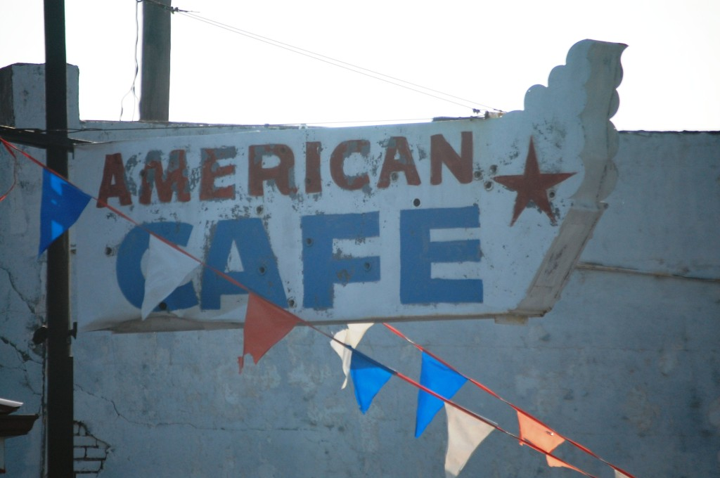 The American Cafe in Guthrie, KY... old sign