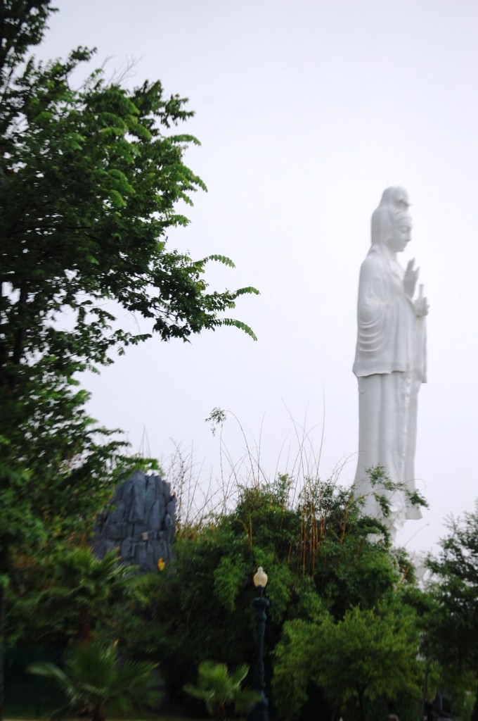 Another view of the 72 foot tall statue of Quan Am
