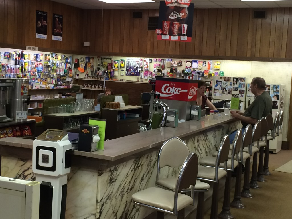 The old fashioned soda fountain inside of Stoner Drug