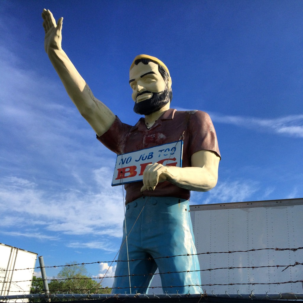 Paul Bunyan Muffler Man just off of the interstate in Wentzville, IL