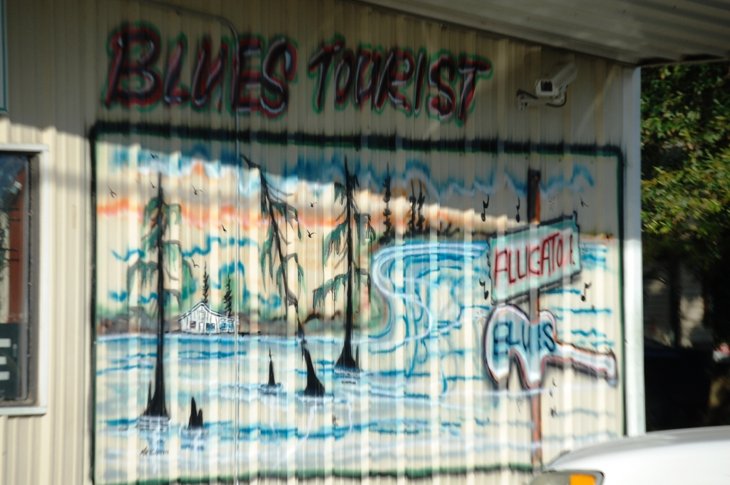 Wall Mural at Blues Tourist in Alligator, MS