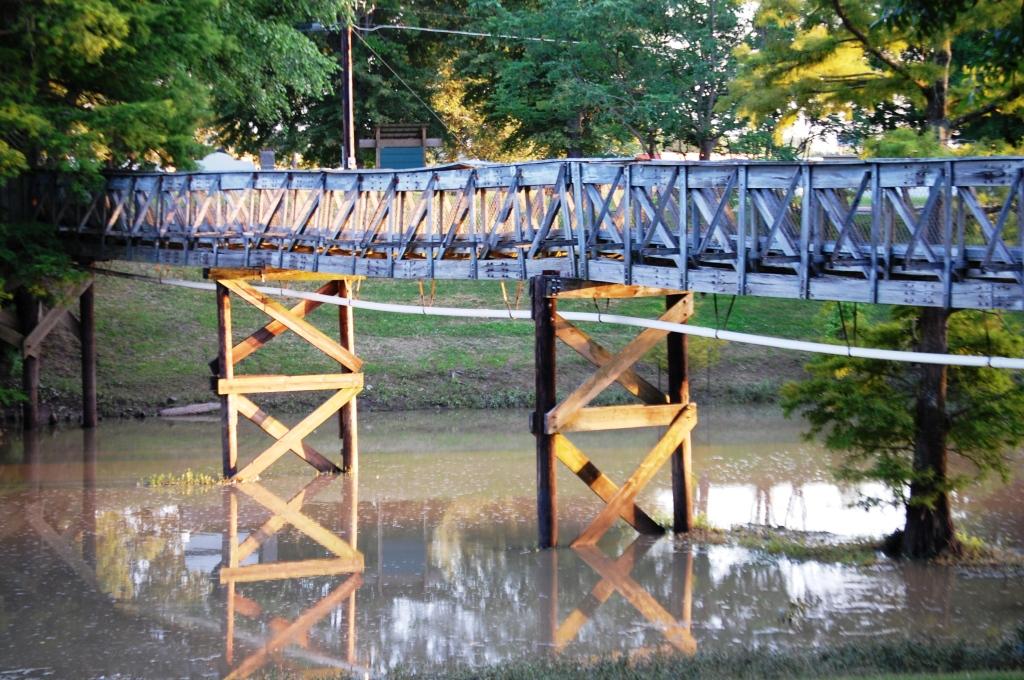 Walkway over Deer Creek in Leland, MS