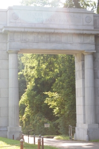 Entry arch at Vicksburg