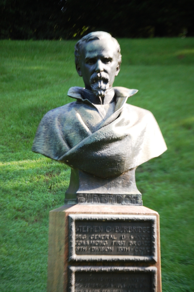 Stephen Burbridge bust in Vicksburg Military Park