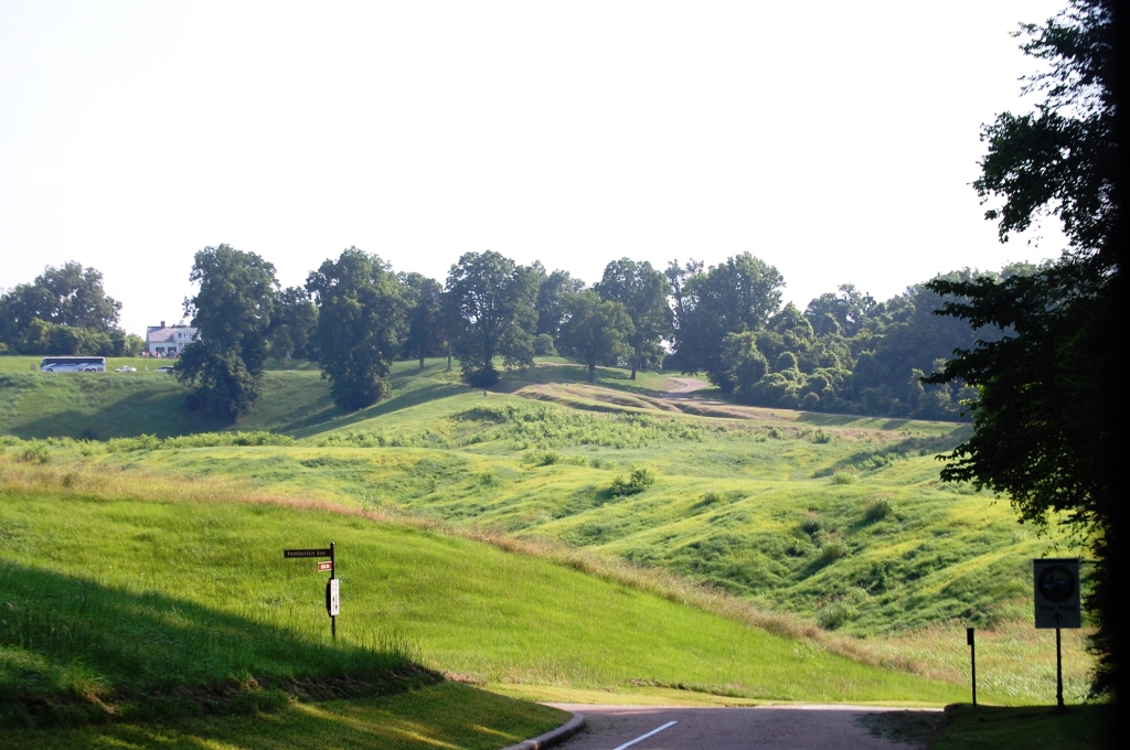 One of the views of the battlefields