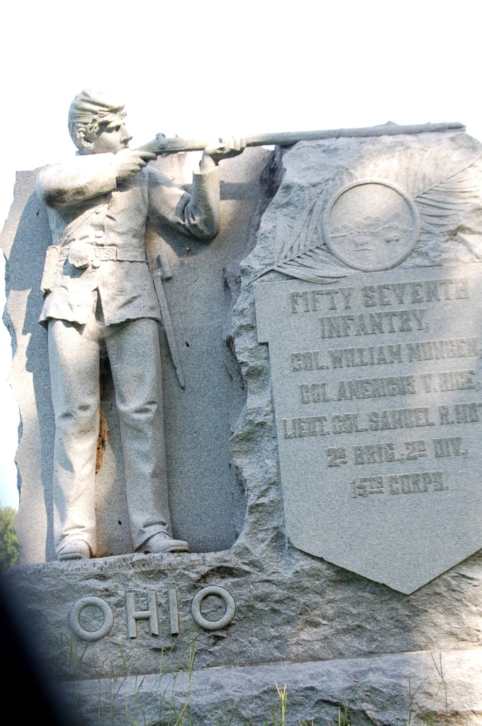 One of the hundreds of monuments in the park