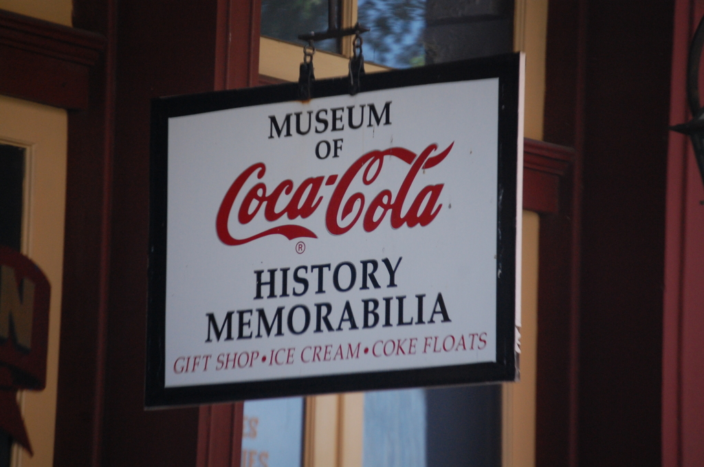 Lots of Coca Cola memorabilia at Biedenharn Coca Cola Museum