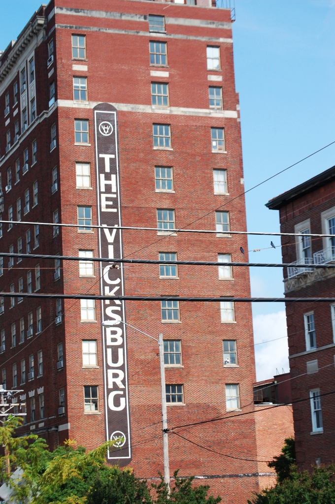Old Hotel Sign on side of The Vicksburg