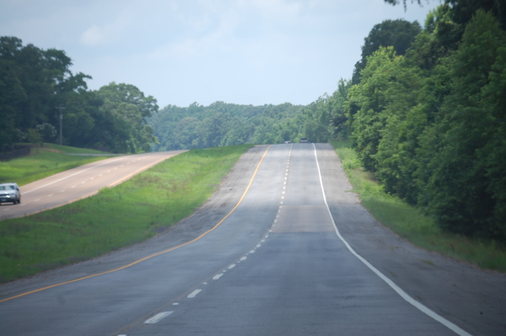 South on US 61...last few miles in southern Mississippi