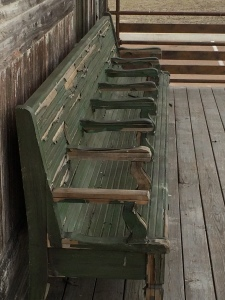 Old Benches outside the Gateway to the Blues