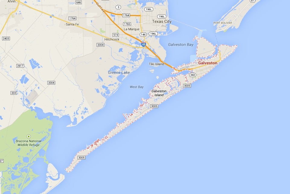 Three Days in Galveston Pelican Fascination – Galveston Tourist Map