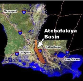 Atchafalaya Basin Map
