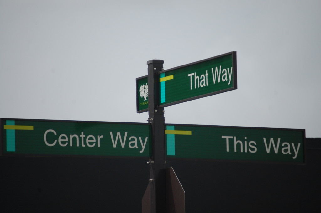 To confuse, at one point there is a Three Way that leads to Center Way