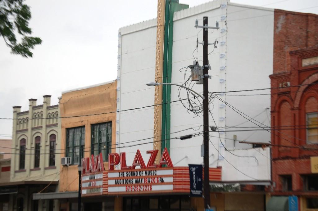 Old Plaza Theater in Wharton, TX