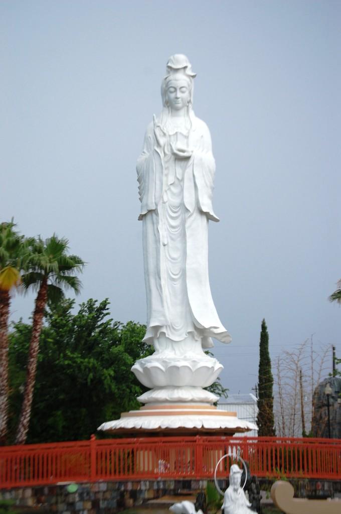 Giant 72' tall Quan Am statue in Sugar Land, TX