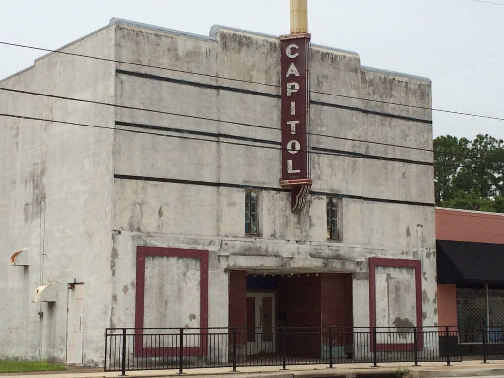 Old Capitol Theater in West Columbia, TX.  A Classic Old Building