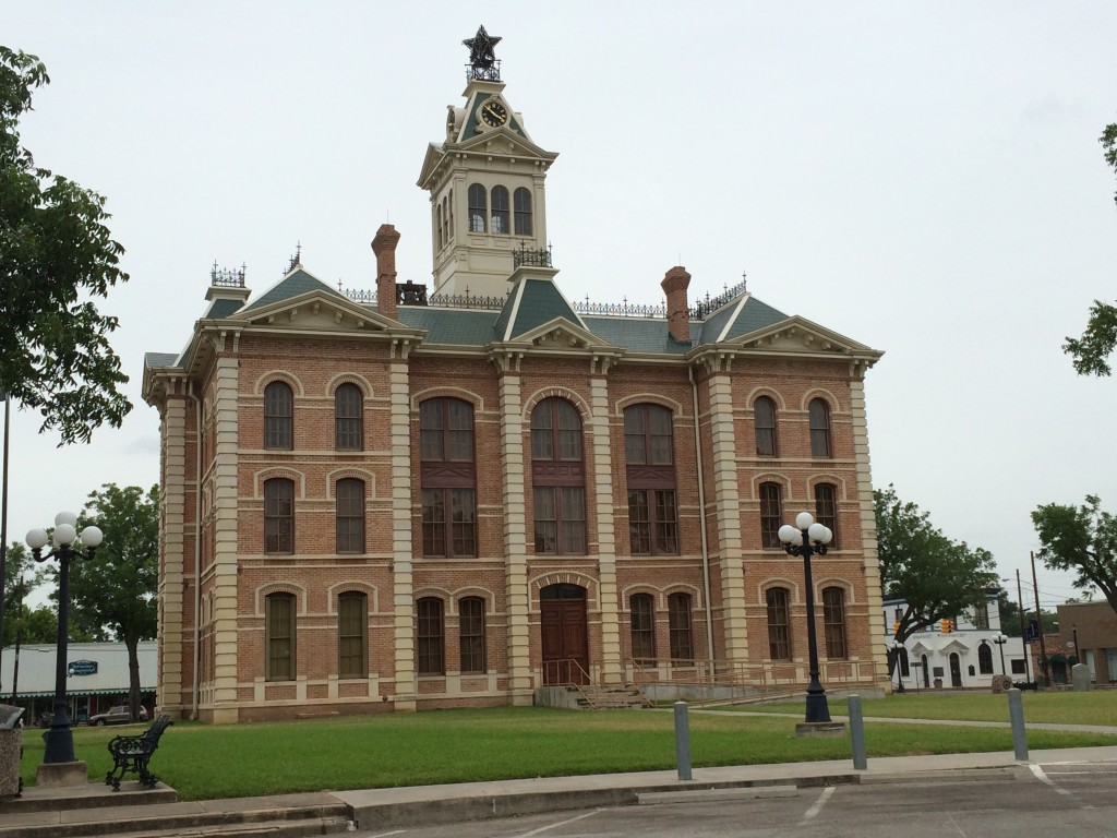 Old courthouse in Wharton, TX