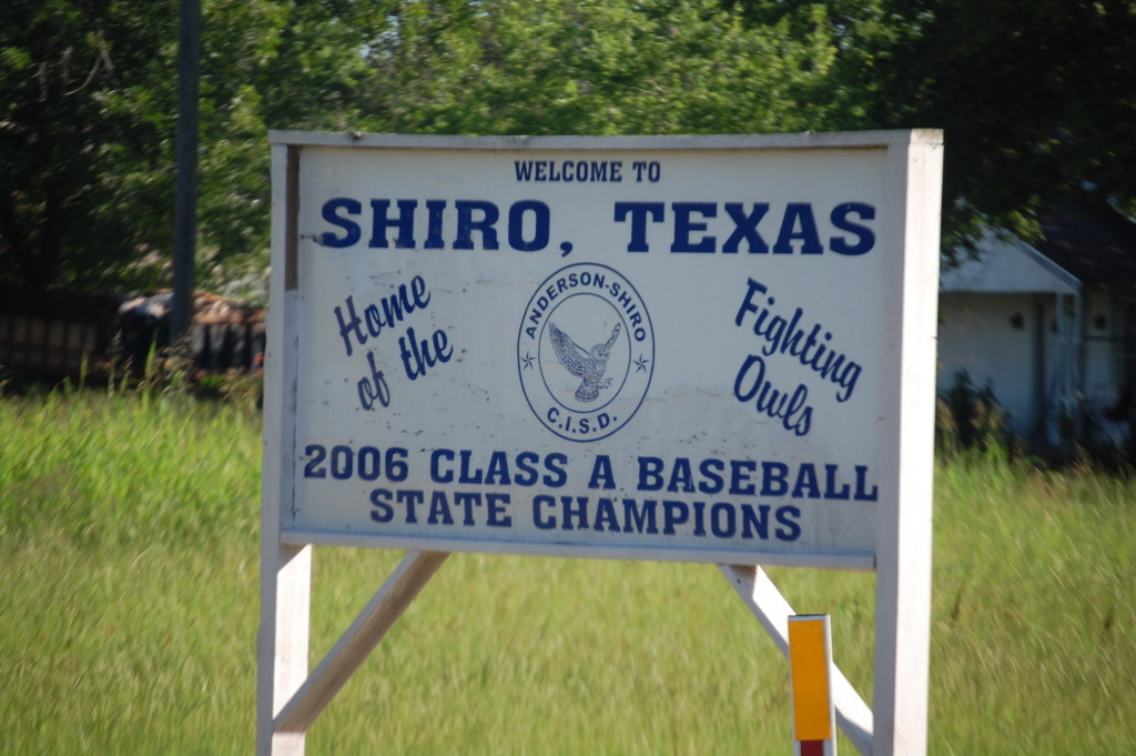 Welcome to Shiro, TX