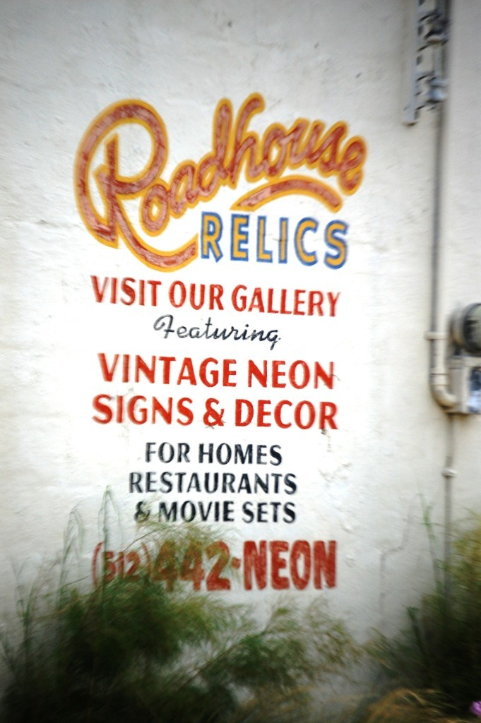 Roadhouse Relics Wall Sign in Austin