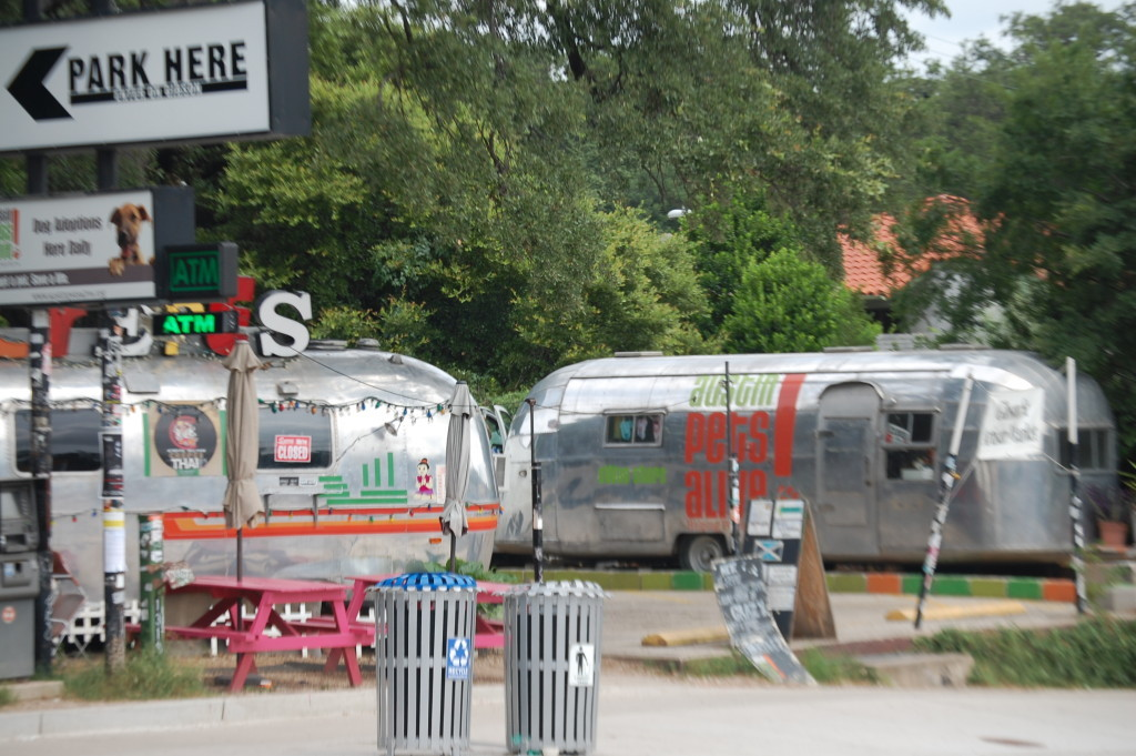 Trailer Park Eatery. Check out the Airstreams!