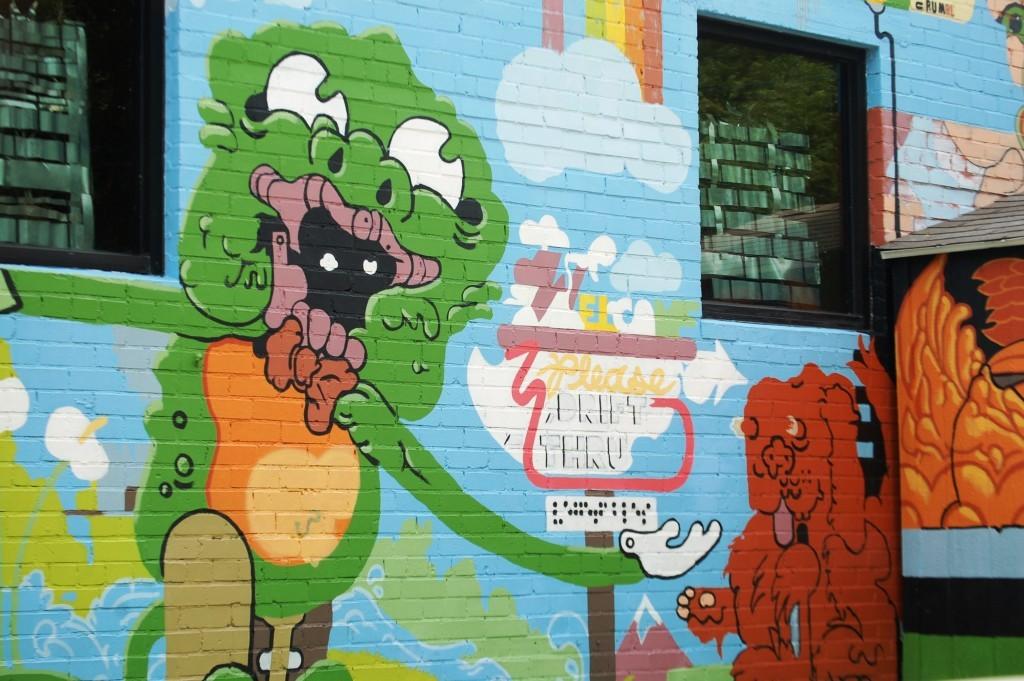 Fun mural in Austin