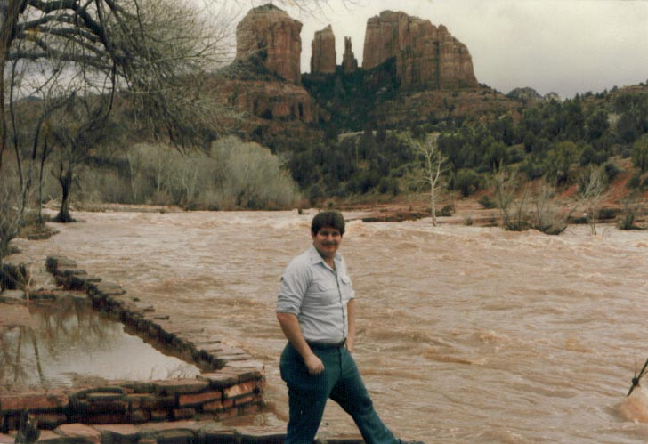 Oak Creek did have occasional flooding, as in this photo in 1982