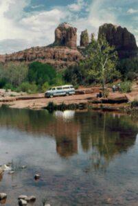 Oak Creek runs by the famed Cathedral Rock in Sedona, AZ