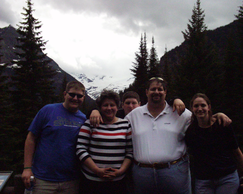 With some family members at Glacier National Park (May 2005)