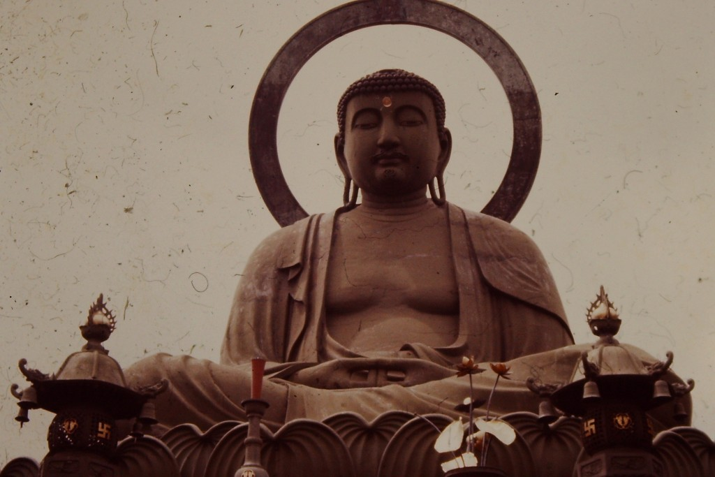Large Buddha statue in Takaoka, Japan.