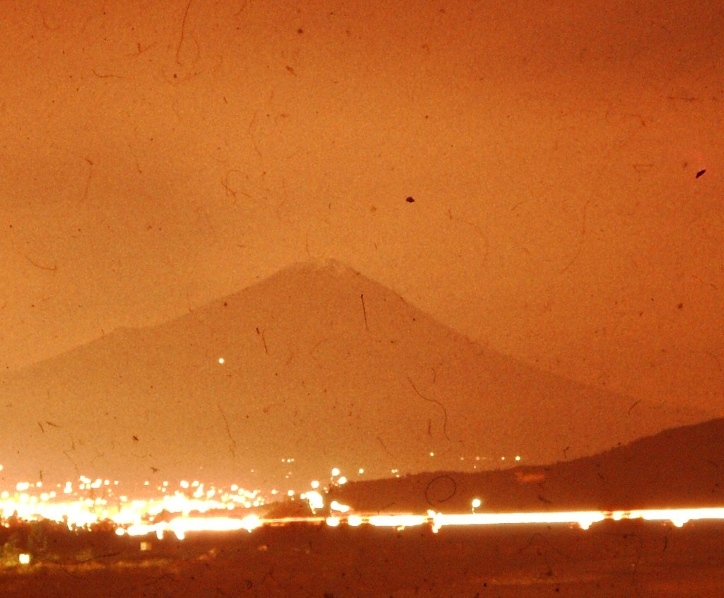 Mt. Fuji at night (ca. 1978)